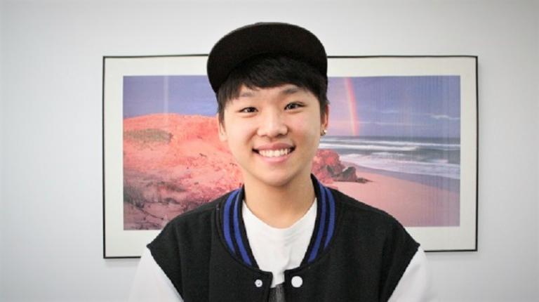 Korean student Jeongun Mun excels in English